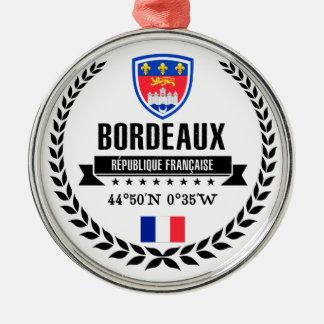 Ornement Rond Argenté Bordeaux