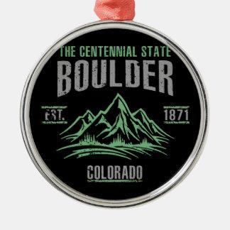 Ornement Rond Argenté Boulder