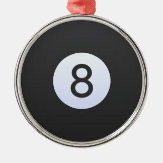 Ornement Rond Argenté Boule 8