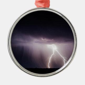 Ornement Rond Argenté Boulon d'éclairage (tempête)