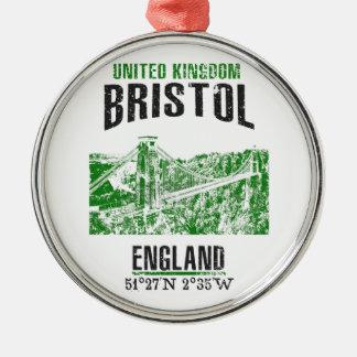 Ornement Rond Argenté Bristol
