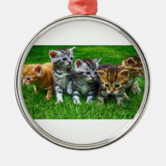 Ornement Rond Argenté Cadeaux mignons de Kitty
