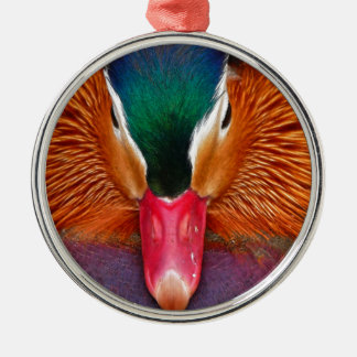 Ornement Rond Argenté canard #2