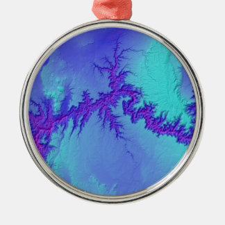 Ornement Rond Argenté Canyon grand de style lumineux de nébuleuse de