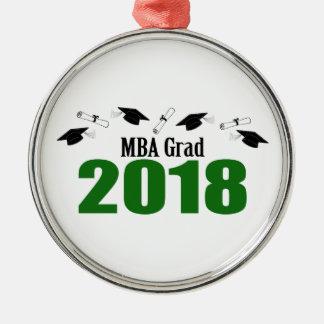 Ornement Rond Argenté Casquettes du diplômé 2018 de MBA et diplômes