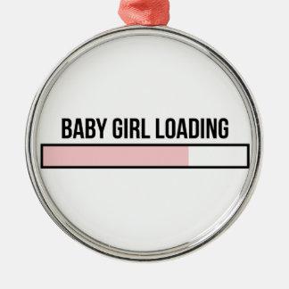 Ornement Rond Argenté Chargement de bébé