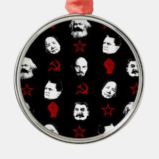 Ornement Rond Argenté Chefs communistes