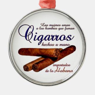 Ornement Rond Argenté Cigarros - Cirars