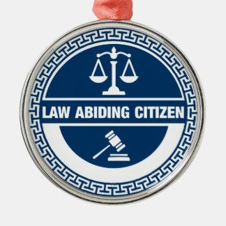 Ornement Rond Argenté Citoyen respectueux des lois