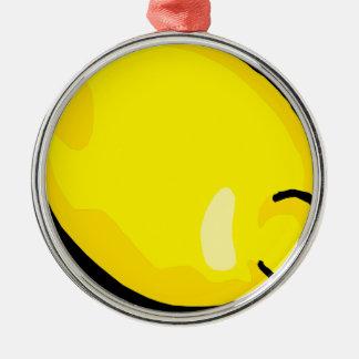 Ornement Rond Argenté Citron
