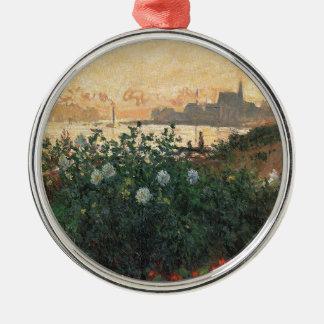 Ornement Rond Argenté Claude Monet - rive fleurie Argenteuil