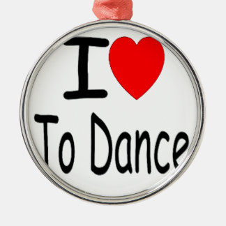 Ornement Rond Argenté coeur i pour danser b