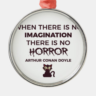 Ornement Rond Argenté Conception effrayante effrayante de Halloween