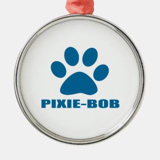 ORNEMENT ROND ARGENTÉ CONCEPTIONS DE CAT DE PIXIE-BOB