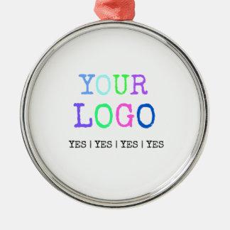 Ornement Rond Argenté Concevez votre propre logo personnalisé par