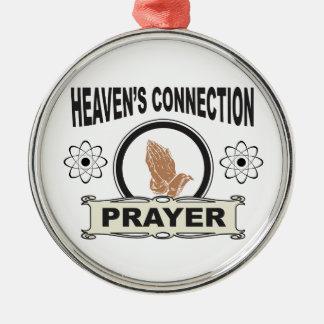 Ornement Rond Argenté connexion de cieux