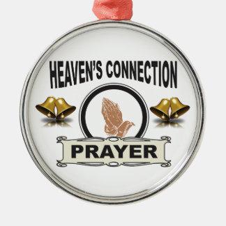 Ornement Rond Argenté Connexion de cieux de Bells