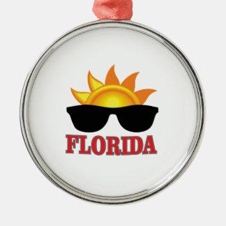 Ornement Rond Argenté Cool de la Floride