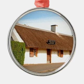 Ornement Rond Argenté Cottage de Robert Burns, Alloway, Ecosse