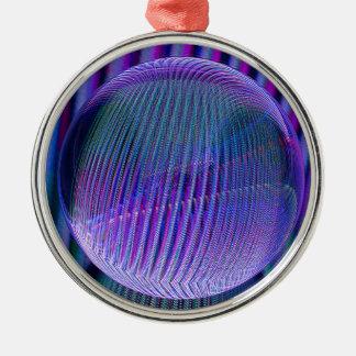 Ornement Rond Argenté Couleurs de boule de cristal