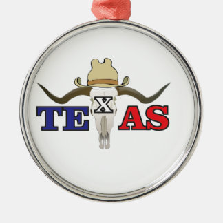 Ornement Rond Argenté cowboy mort le Texas