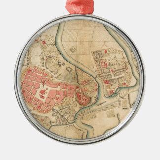 Ornement Rond Argenté Cracovie Pologne 1755