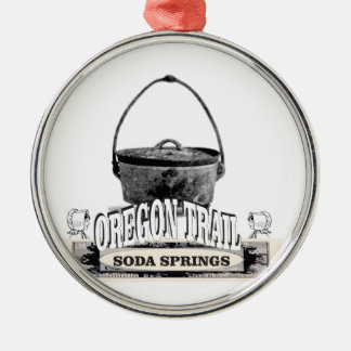 Ornement Rond Argenté cuisson de Soda Springs