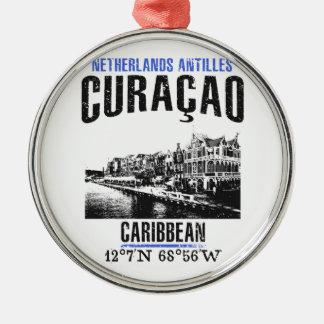 Ornement Rond Argenté Curaçao