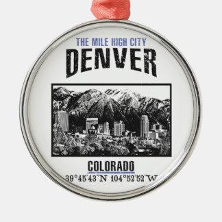 Ornement Rond Argenté Denver