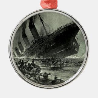 Ornement Rond Argenté Descente titanique