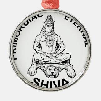Ornement Rond Argenté Dieu éternel de seigneur Shiva et indien