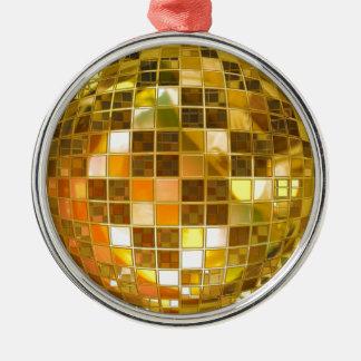 Ornement Rond Argenté Disco de partie de lumière de danse de saut de
