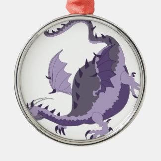Ornement Rond Argenté dragoncolour