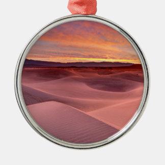 Ornement Rond Argenté Dunes de sable roses, Death Valley, CA