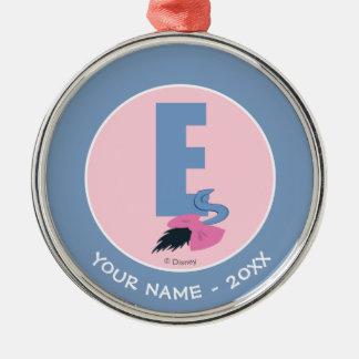 Ornement Rond Argenté E est pour Eeyore   ajoutent votre nom