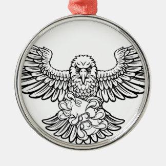 Ornement Rond Argenté Eagle Esports folâtre la mascotte de Gamer