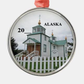 Ornement Rond Argenté Église russe