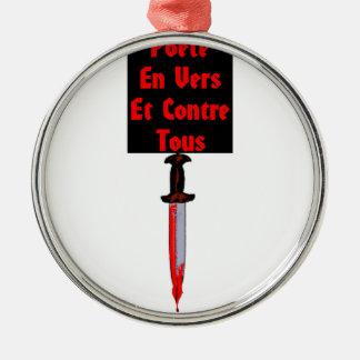 Ornement Rond Argenté En Vers et Contre Tous - Jeux de Mots Francois