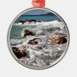 Ornement Rond Argenté En vertu de la mer - île Sicile