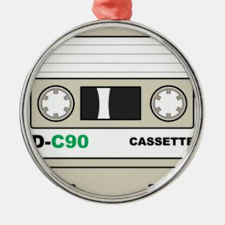 Ornement Rond Argenté Enregistreur à cassettes