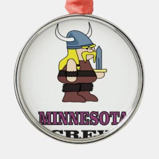 Ornement Rond Argenté Équipage du Minnesota