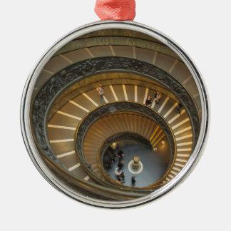 Ornement Rond Argenté Escalier de Bramante, musée de Vatican