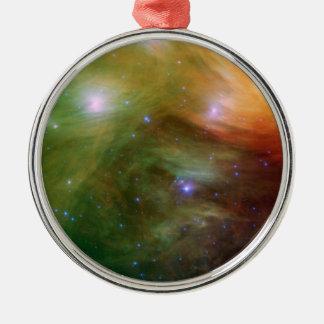 Ornement Rond Argenté Étoiles de Pleiades dans SSC2007 infrarouge 07A