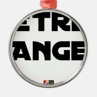 Ornement Rond Argenté ÊTRE ANGE - Jeux de mots - Francois Ville