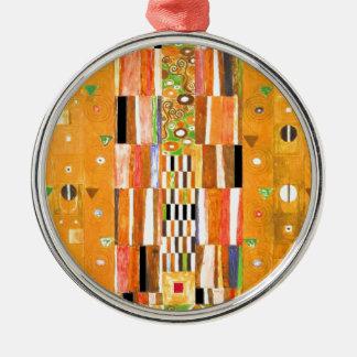 Ornement Rond Argenté Extrémité de Gustav Klimt du mur