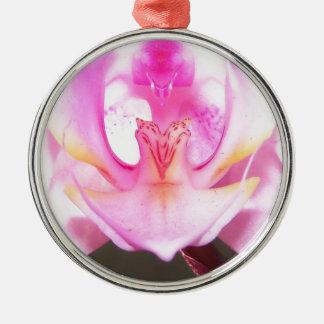 Ornement Rond Argenté extrémité étroite de l'intérieur d'une fleur