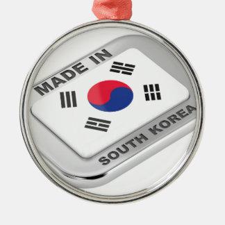 Ornement Rond Argenté Fabriqué en Corée du Sud