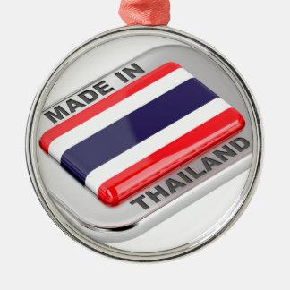Ornement Rond Argenté Fabriqué en Thaïlande