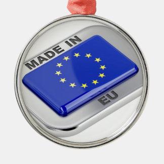 Ornement Rond Argenté Fait dans l'Union européenne