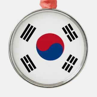Ornement Rond Argenté flag_korea